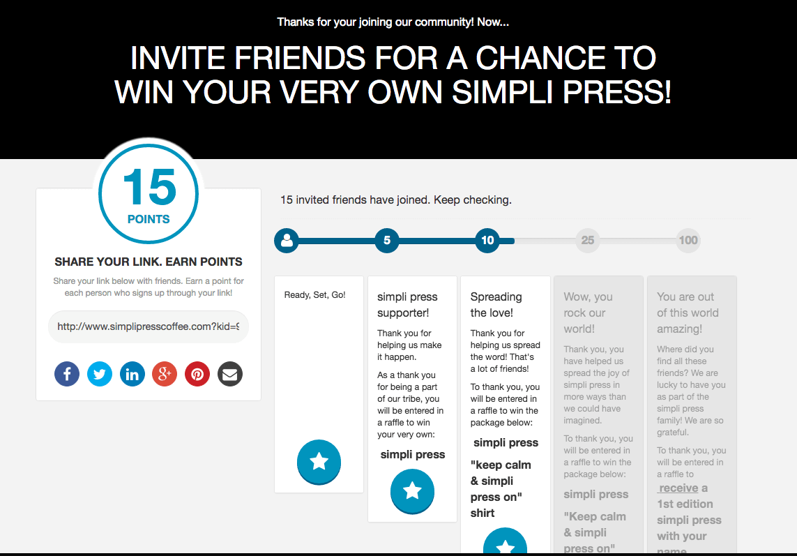 Simpli Press goes from idea to crowdfunded with a referral contest.
