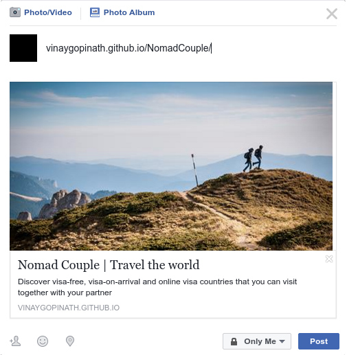 Nomad Couple - Facebook share rich snippet