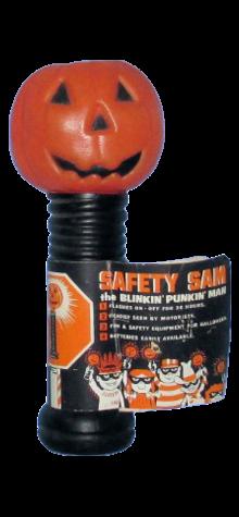 """Safety Sam"" Pumpkin Flashlight photo"