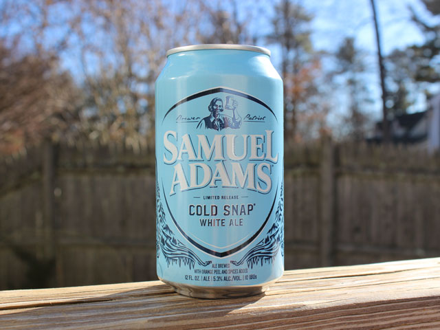 Cold Snap, a White Ale brewed by Samuel Adams Brewery