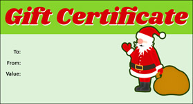 Christmas Gift Certificate Template.Gift Template Select A Gift Certificate Template To Customize