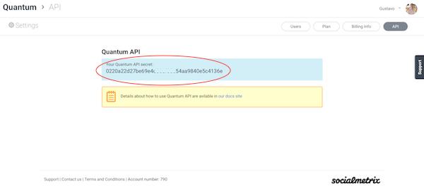 Quantum API Secret