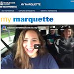 Screenshot of My Marquette homepage.