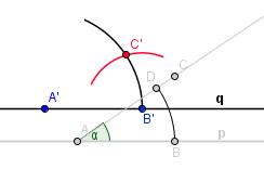 Další kružnice, se středem v B'