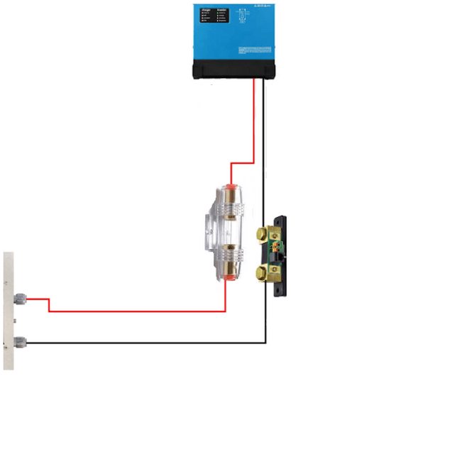 Kabelpakke 1,5m til 7kWh batteri(ferdig laget til SHUNT)