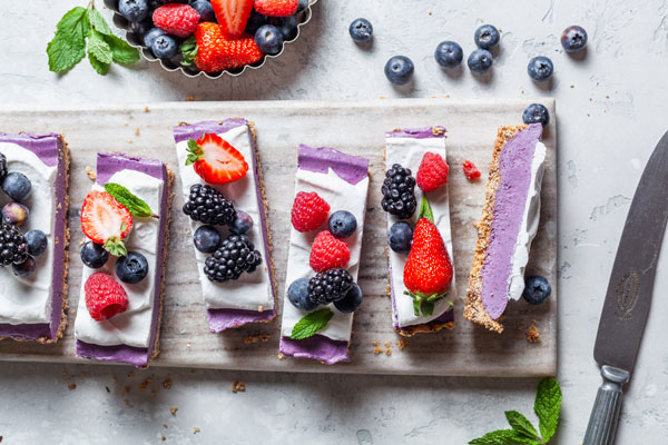 No Bake Vegan Berry Cheesecake