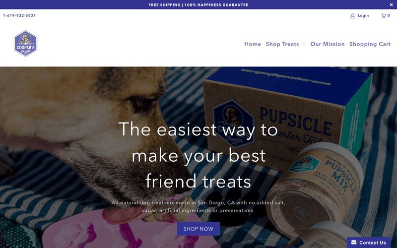 Cooper's Treats website