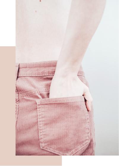 Retouche des ourlets de pantalon