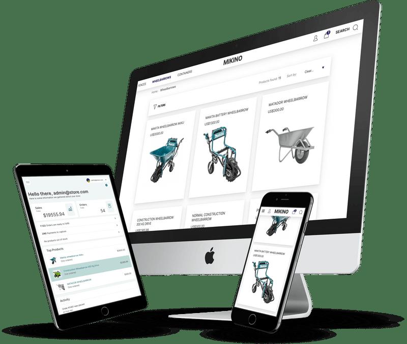 E-commerce platform and admin app