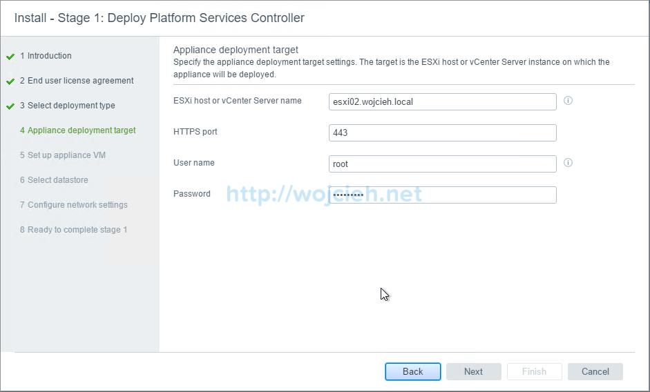 vCenter Server Appliance 6.5 with External Platform Services Controller - 5