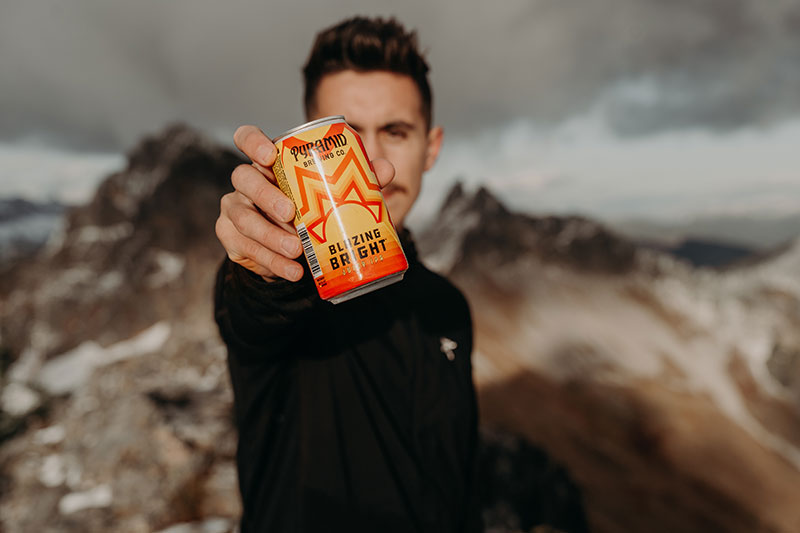 Tyler Grobmeier beer photography in North Cascades mountains of Washington