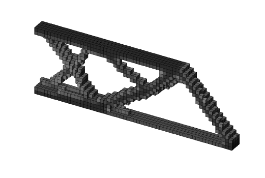 Cantilever beam with passive elements