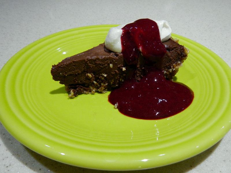 Chocolate Raspberry Pie Serving