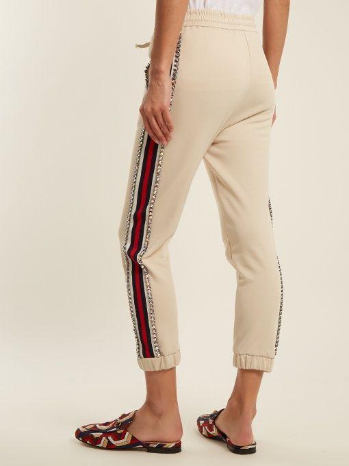 Pantalon Gucci avec empiècement en tissu sur les côtés