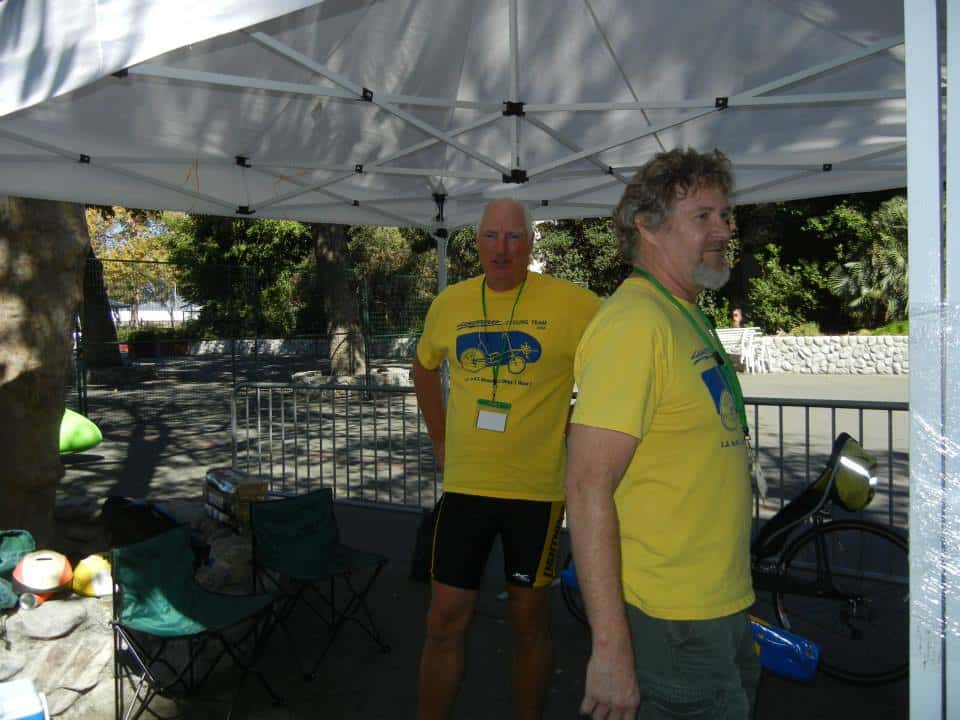 Tim Brummer and me at Recumbent Cycle-Con 2013