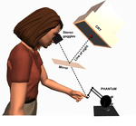 Within- and cross-modal distance information disambiguate visual size-change perception