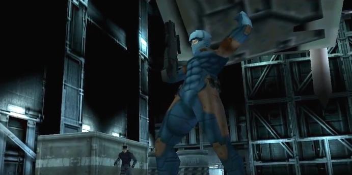 Metal Gear Solid, PSX, Grey Fox fights Metal Gear