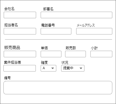 フォームの例