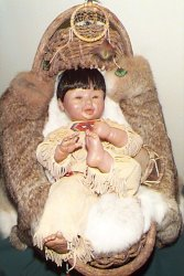 Native American papoose doll