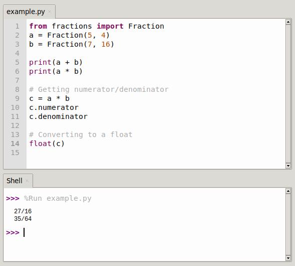 python fractions module