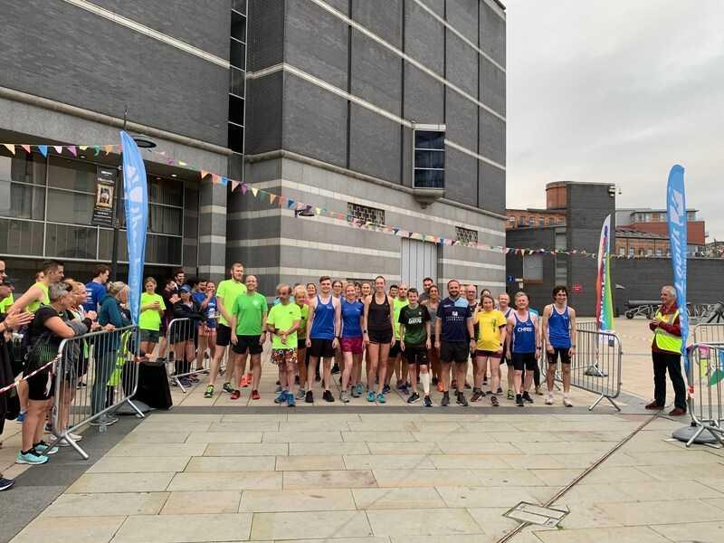 Leeds Dock Running Relay startling