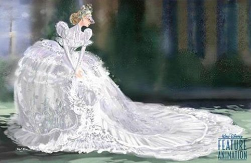 Snow Queen concept art from early 2000s
