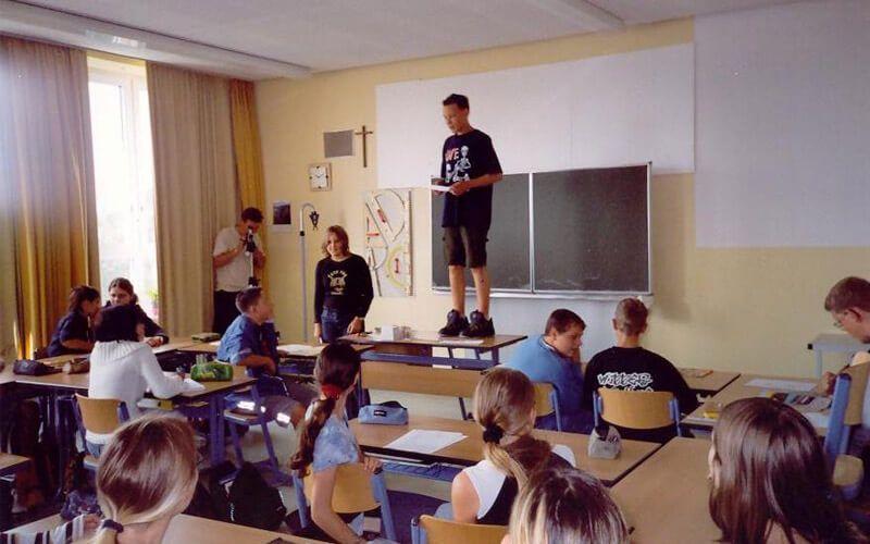 Dreh in der Schule