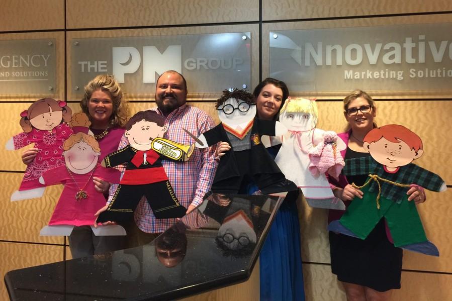 The PM Group Decorates ChildSafe Cardboard Kids