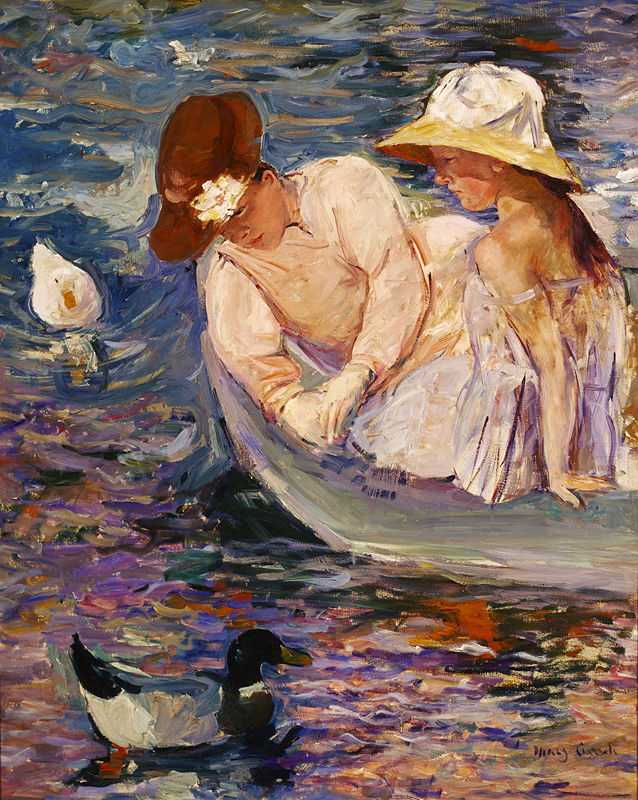 'Summertime' by Mary Cassatt, c. 1894, oil on canvas, at the Terra Foundation for American Art, Chicago