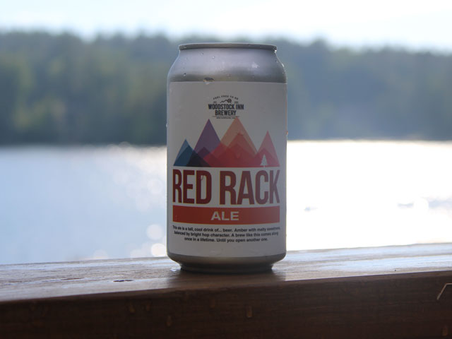 Red Rack Ale, an Amber Ale brewed by Woodstock Inn Brewery