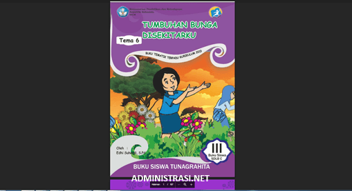 Buku Siswa Tunagrahita Kelas 3 Tema 6 Tumbuhan Bunga Disekitarku