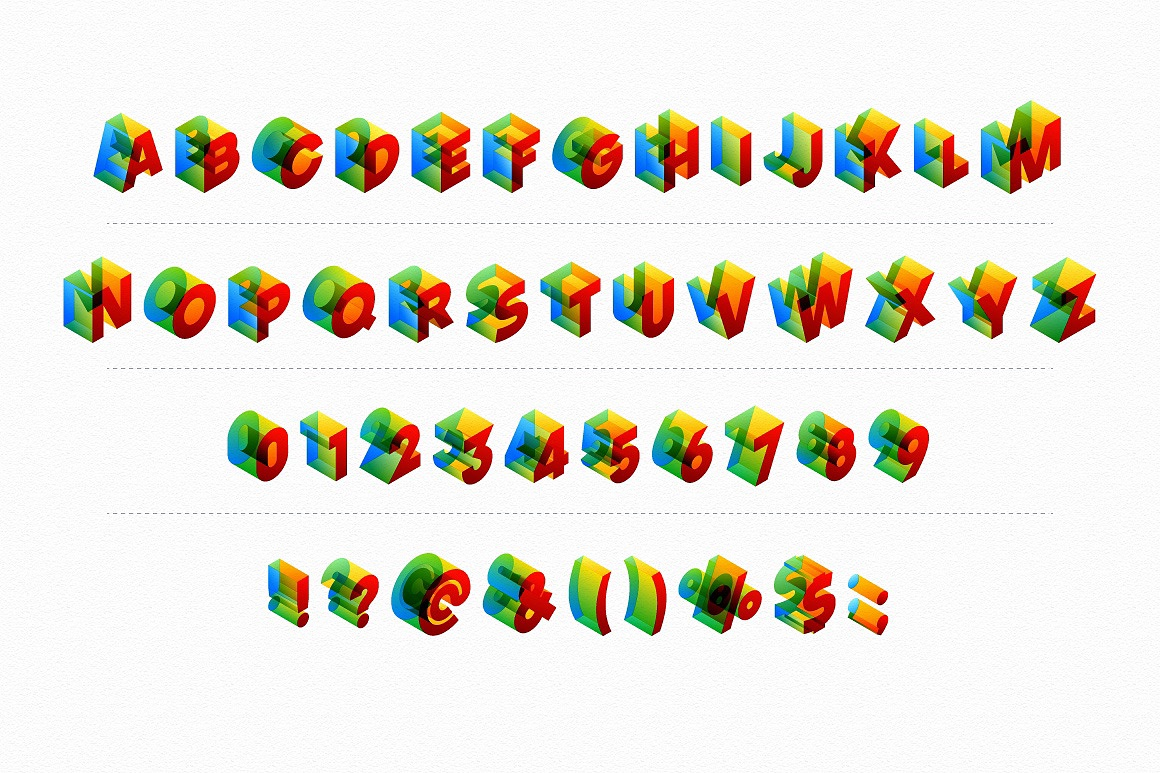 Colored Isometric Alphabet images/Colored-isometric-transparent-font_2.jpg