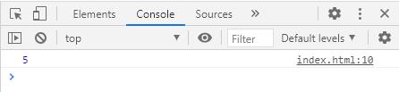 JavaScript console.log