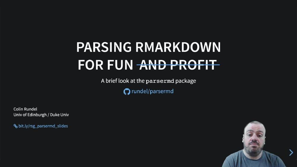parsermd - parsing R Markdown for fun and profit