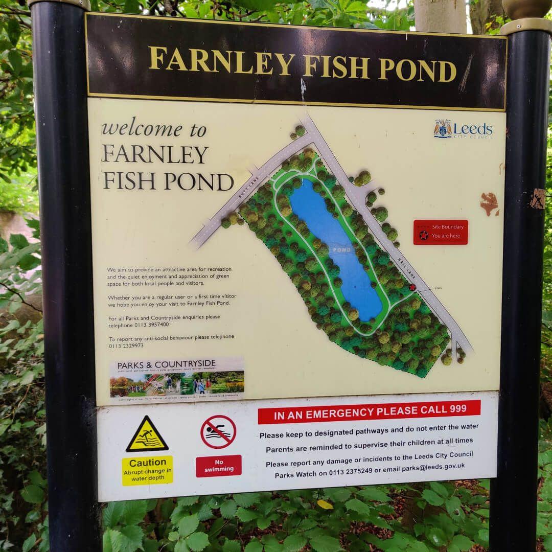 Farnley Hall Fish Pond sign