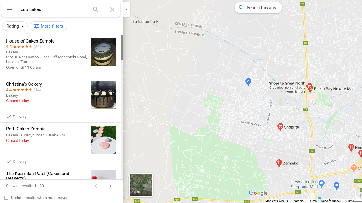 Business to Google My Business Map