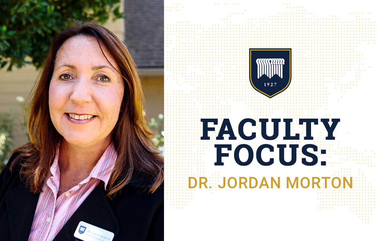 Faculty Focus: Dr. Jordan Morton