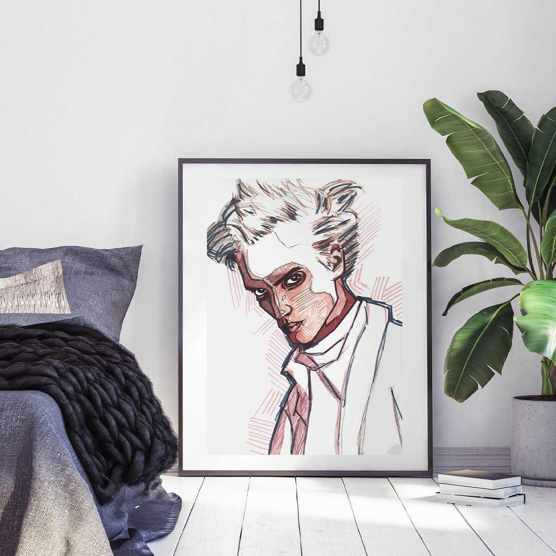 Egon Art Print