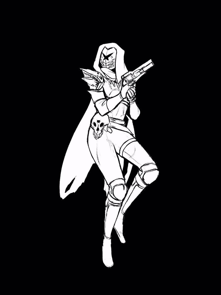 Hunter character.