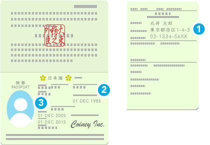 日本国パスポートのイラスト