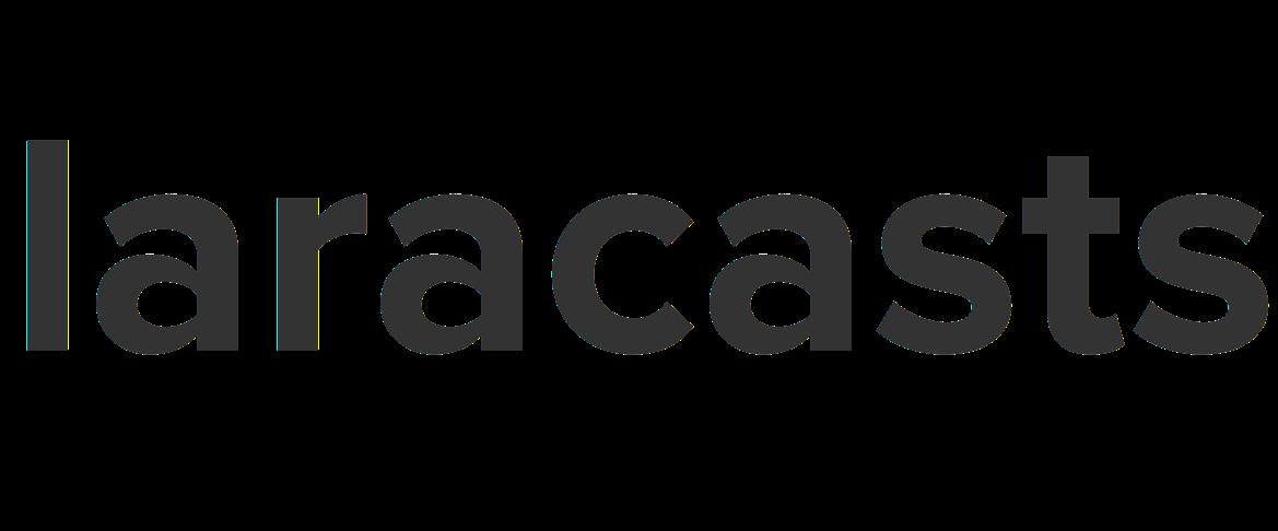 Laracasts logo. The word laracast.