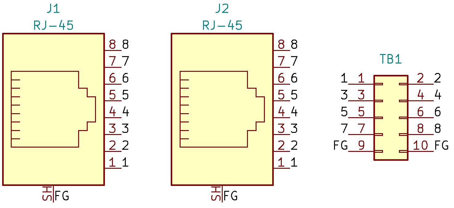 RJ45-TB2X5の回路図