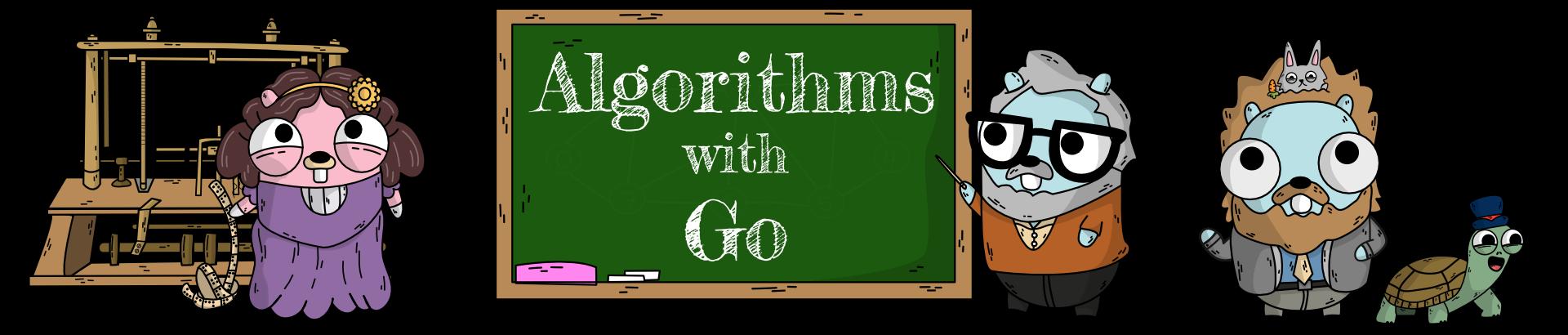 Algorithms with Go Artwork