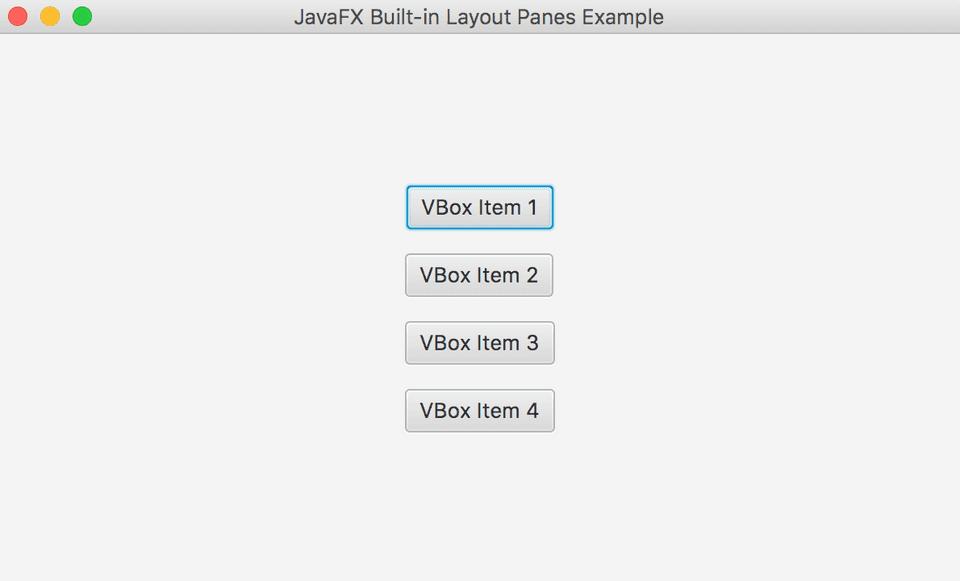JavaFX VBox Example