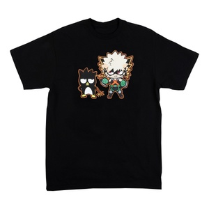 Hello Kitty & My Hero Academia Anime Women's Back Short Sleeve Shirt