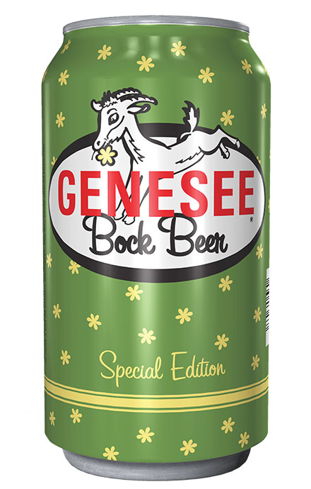 Genesee Bock Beer can
