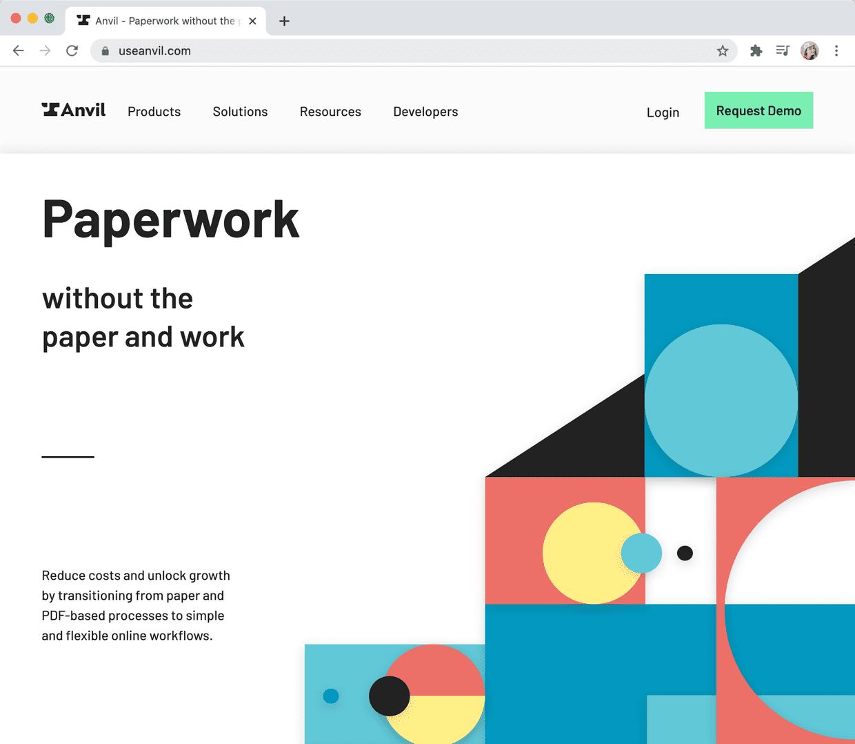 New homepage