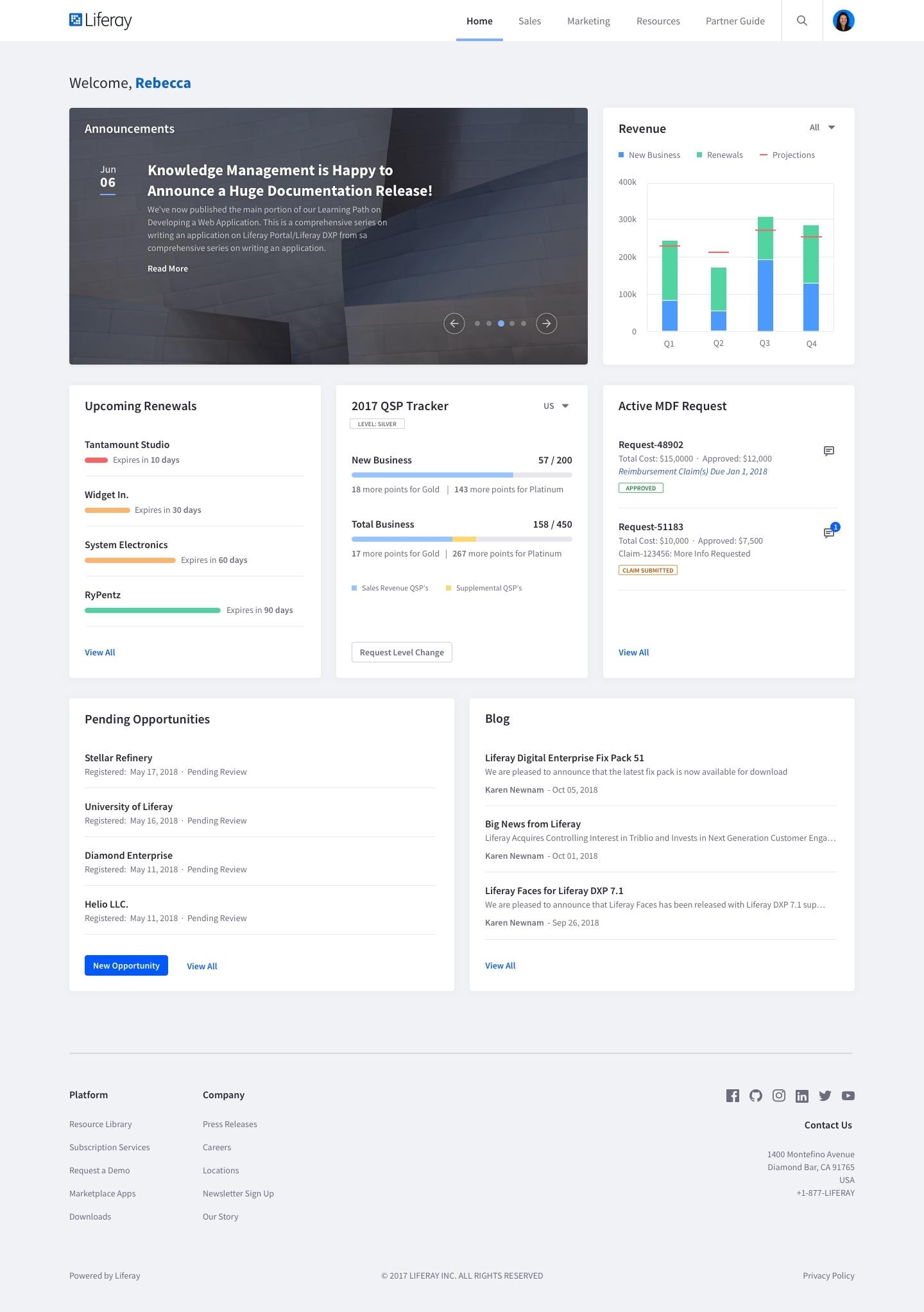 Partner Portal home page