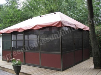Free Standing Screen Room Kits | Square Style Screened Gazebos ...