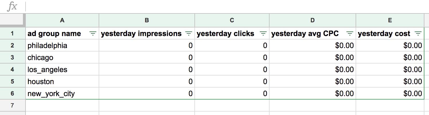 write sheet result